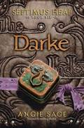 A dull brown book with a metal box on the cover titled Darke.