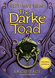 A dark purple book cover with a frog shaped door knocker on the cover. Title is Darke Toad.