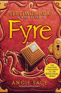 A bright red book with a dragon boat on the front and a golden pyramid titled Fyre