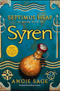 An ocean blue book with a potion bottle on the front titled Syren