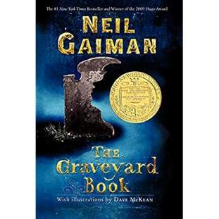 A blue cover with gold writing featuring an antique headstone and a golden Newberry sticker.