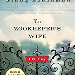 """The Zookeepers Wife"" a gate to a zoo with the sky in the background."