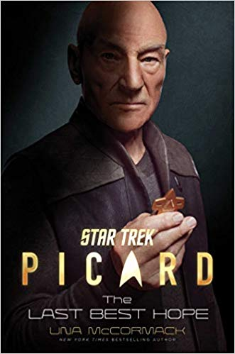 A dark cover features actor Patrick Stewart as Jean Luc Picard looking directly at the reader.