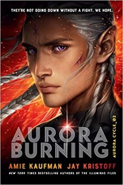 A young, human-like alien with purple eyes and long silver braids stares out.